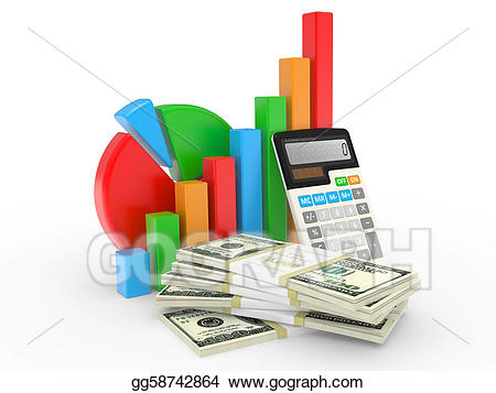 Financial clipart financial success. Business chart showing at