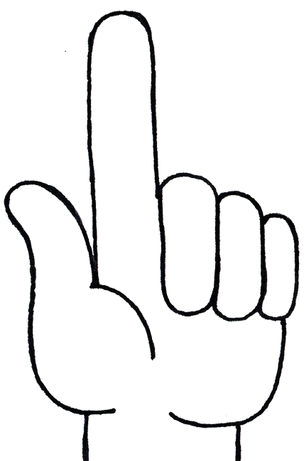 Free number hand cliparts. Fingers clipart 1 finger