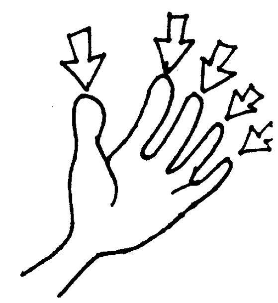 Finger clipart. Fingers black and white