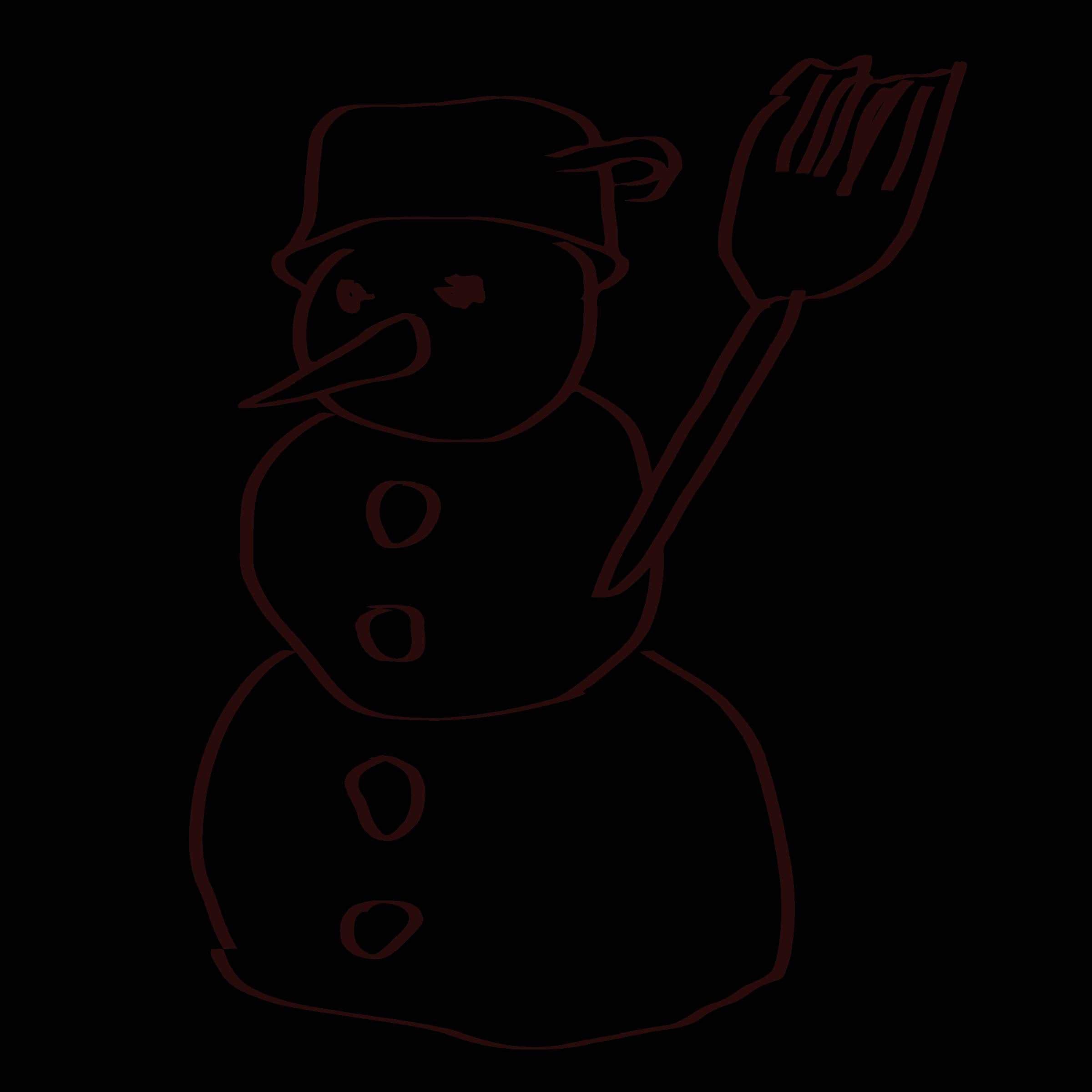 snowman clipart outline
