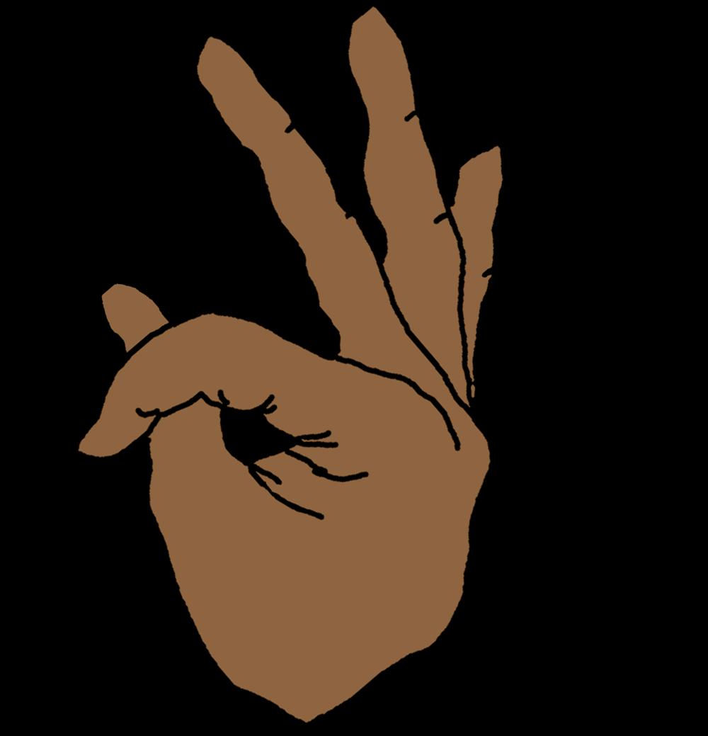 Finger clipart brown hand. Fire logo white long