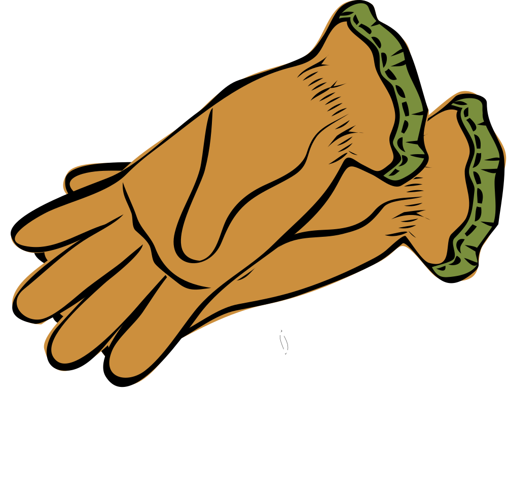 Finger clipart brown hand. Onlinelabels clip art guanti