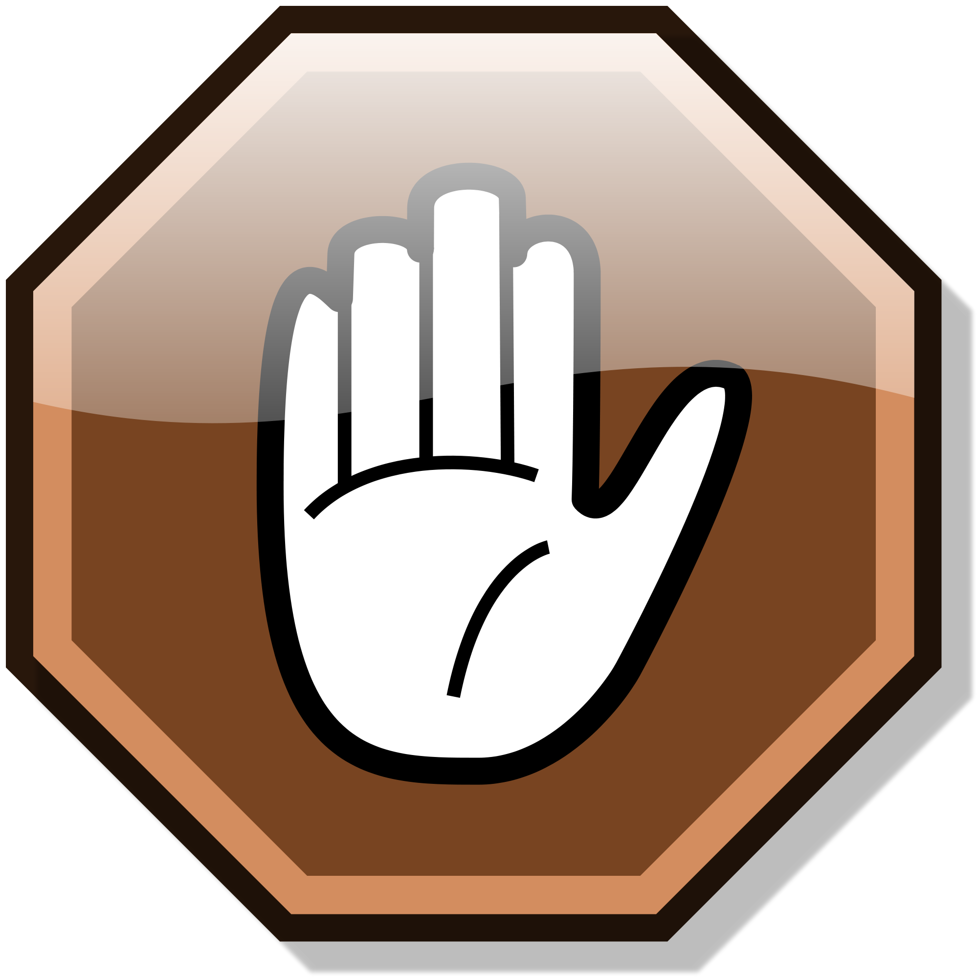 File stop nuvola svg. Finger clipart brown hand