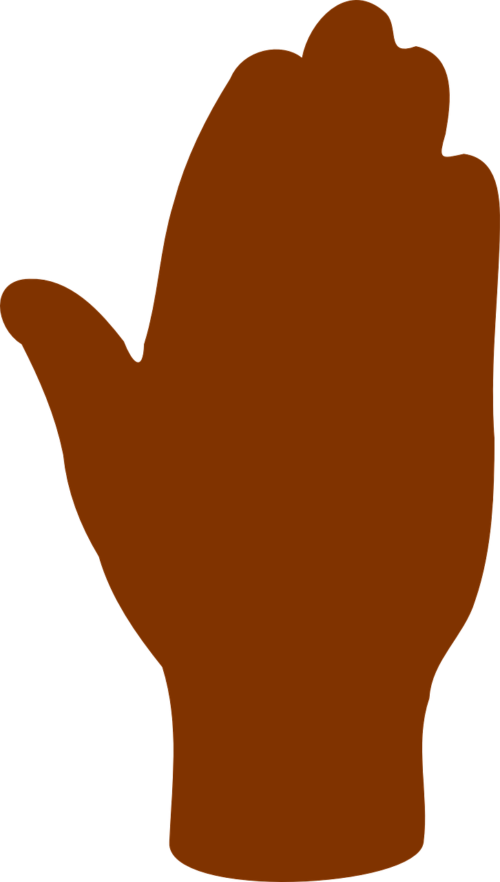 Palm silhouette at getdrawings. Finger clipart brown hand