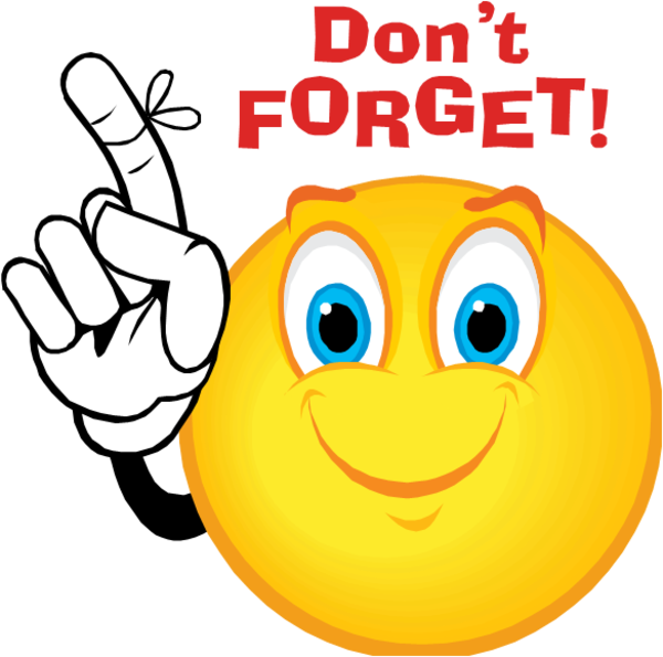 Dont forget smiley free. Mail clipart reminder