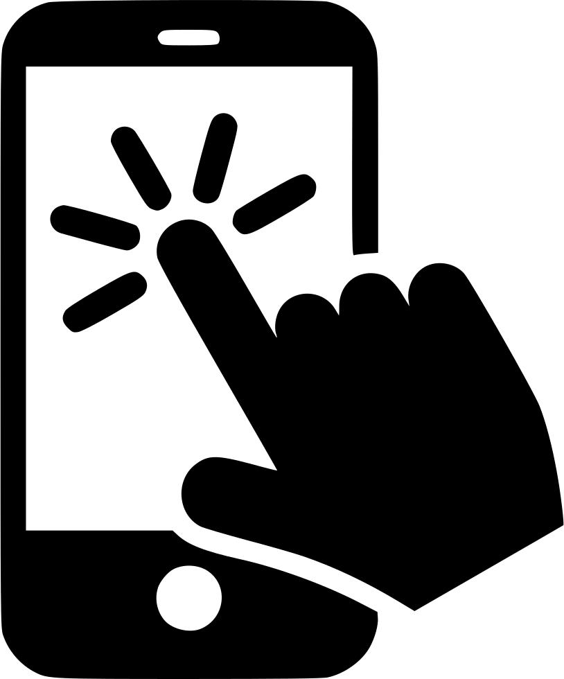Finger clipart finger click. Cursor press button index