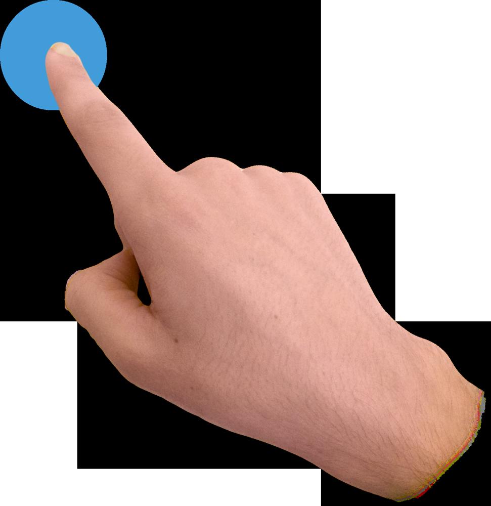 Transparent png pictures free. Fingers clipart finger click