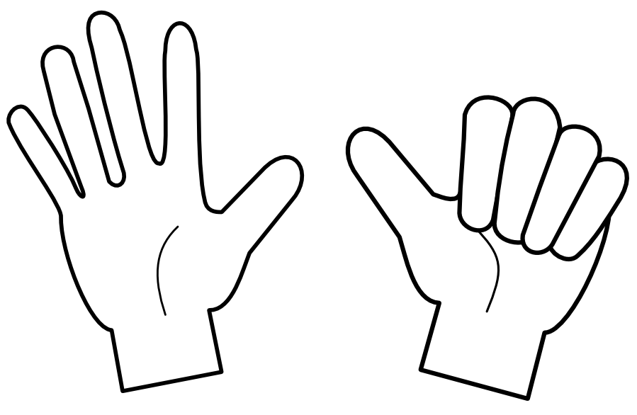 Finger clipart finger count. On fingers education classwork