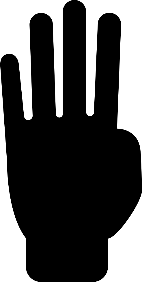 Counting to four with. Finger clipart finger count