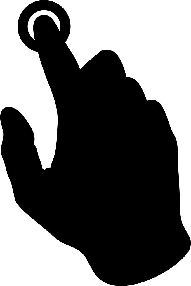 Pressing a button svg. Finger clipart finger press