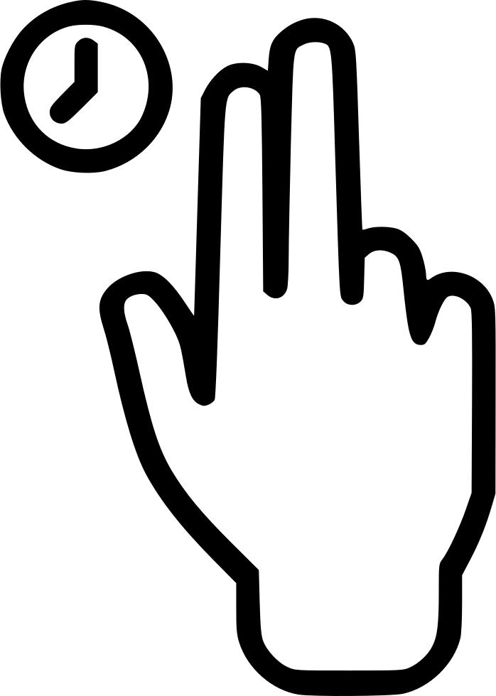 Finger clipart finger press. Hold hand touch clock