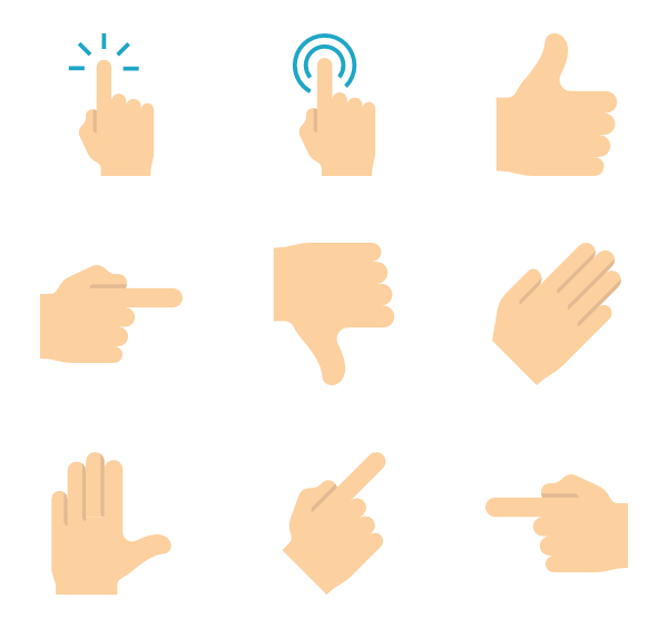 Finger icons free vector. Thumb clipart yes