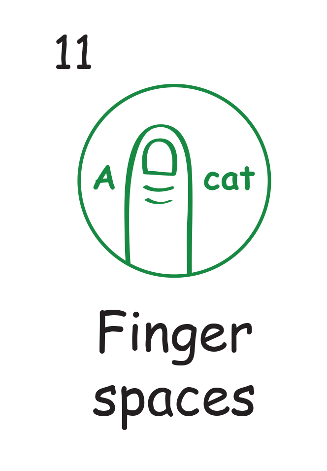 Marking stamps spaces c. Finger clipart finger space