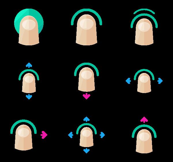 Finger clipart finger tap.  icon packs vector