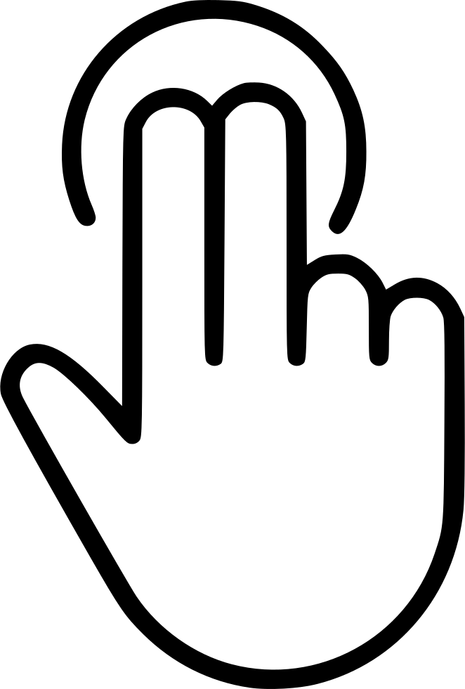 Two svg png icon. Finger clipart finger tap