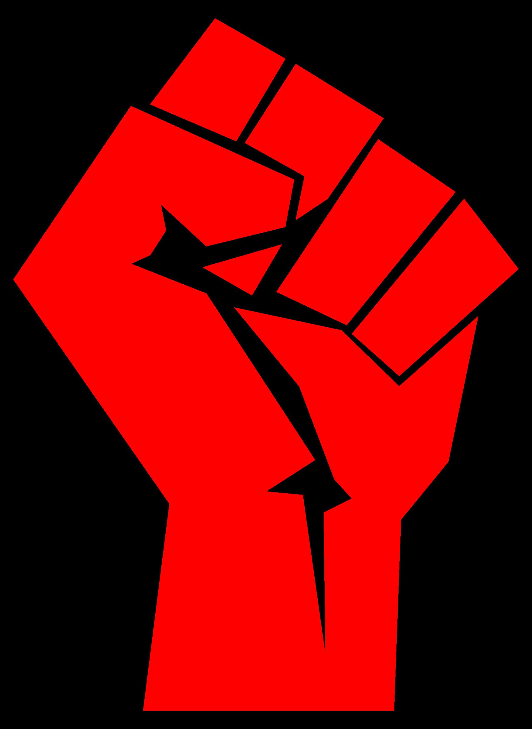 Big image png. Fist clipart revolution fist