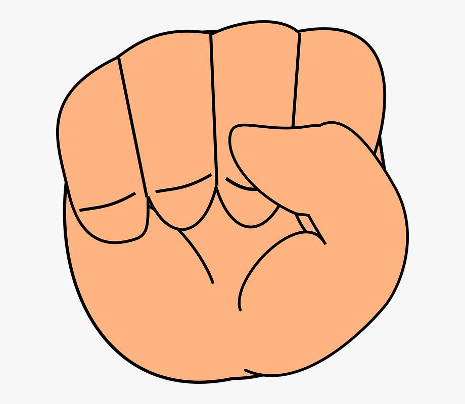 Fist clipart hand close. Fingers clip art free