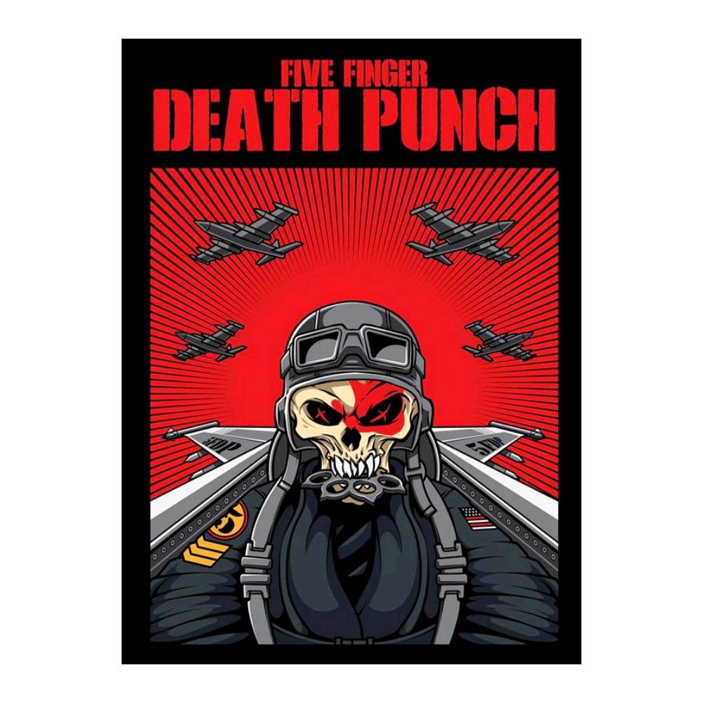 Skull pilot poster death. Finger clipart five finger