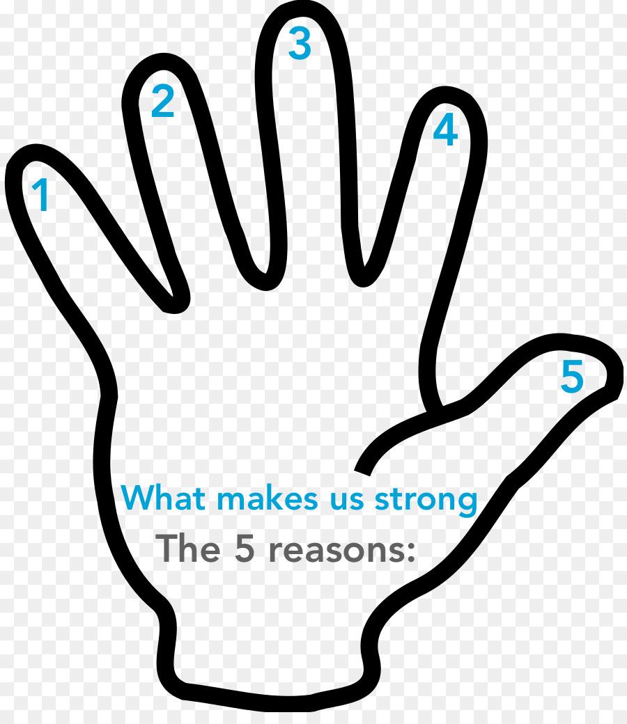 Finger clipart five finger. Hand cartoon graphics transparent