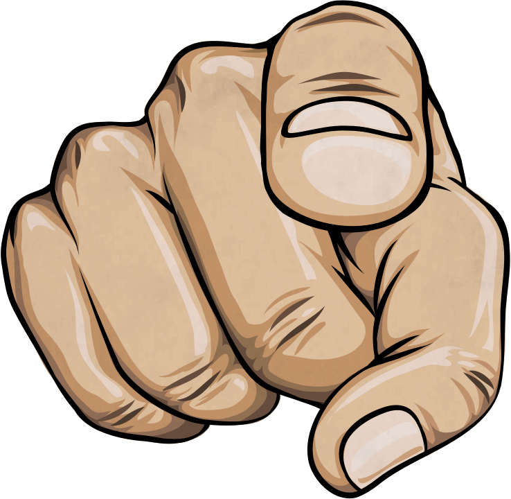 Finger pointing at you. Fingers clipart hand direction