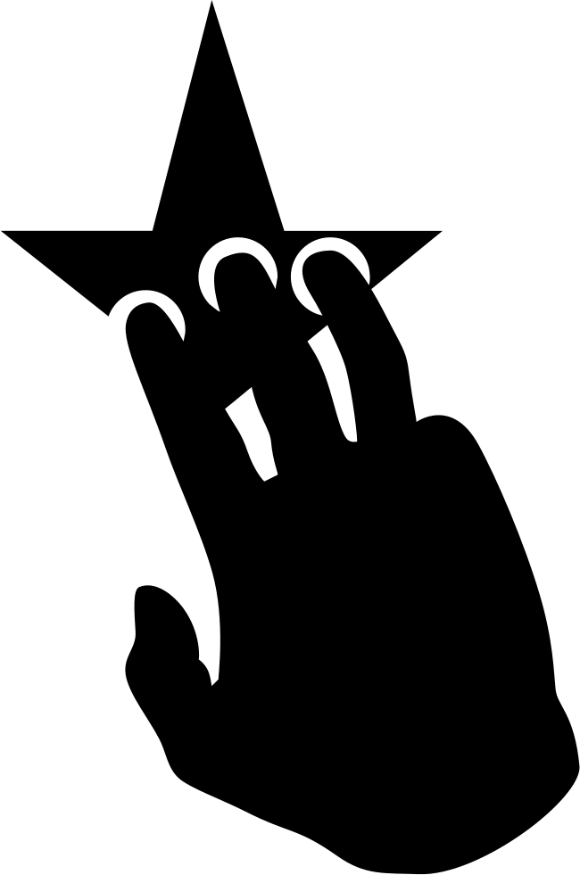 Three fingers of a. Finger clipart hand grab