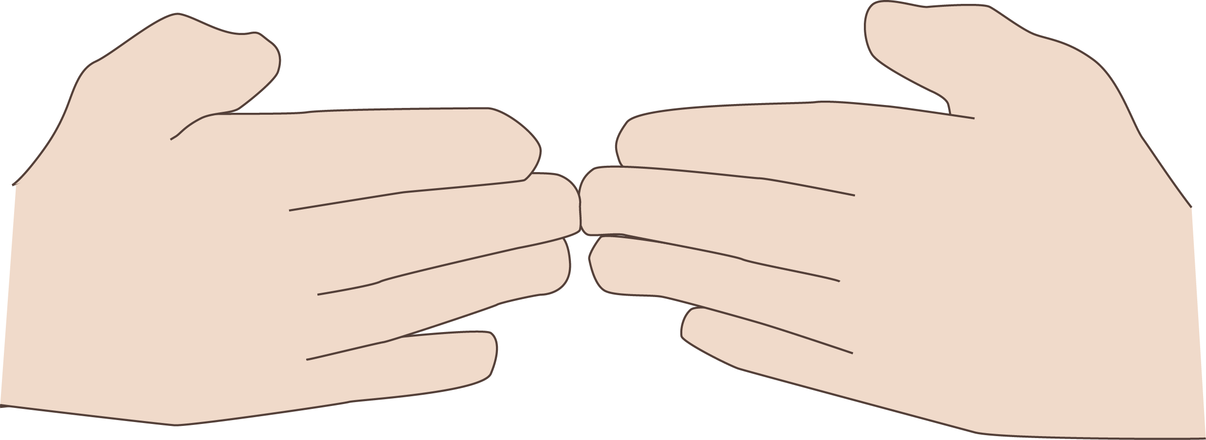 Coding manual two open. Finger clipart hand span
