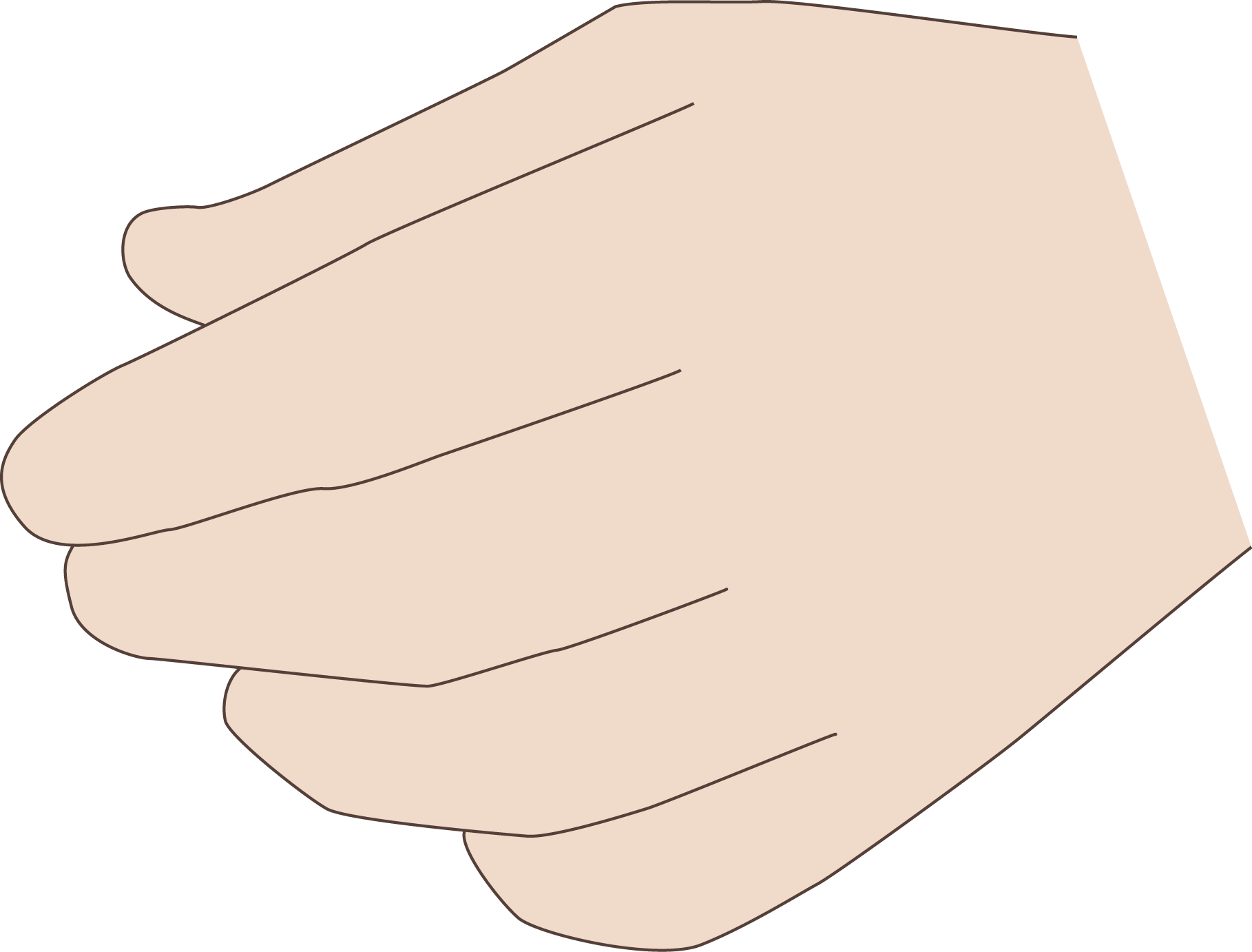 Finger clipart hand span. Coding manual all fingers
