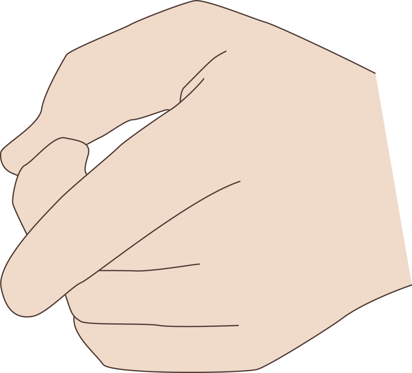 Coding manual shape library. Finger clipart hand span