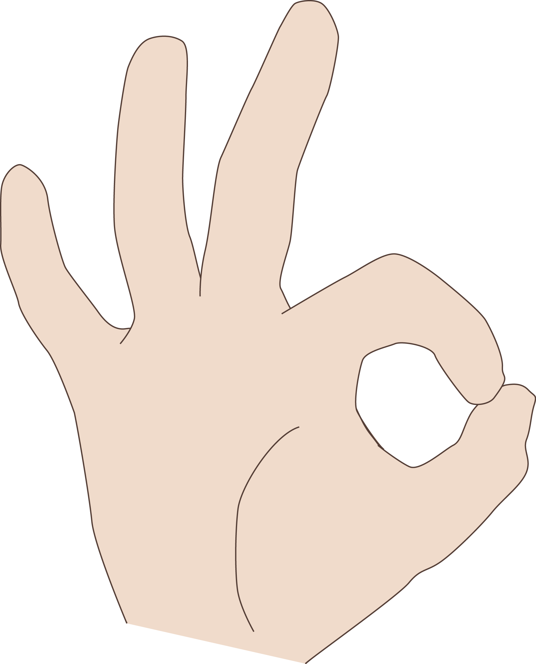 Finger clipart hand span. Coding manual iconic ok