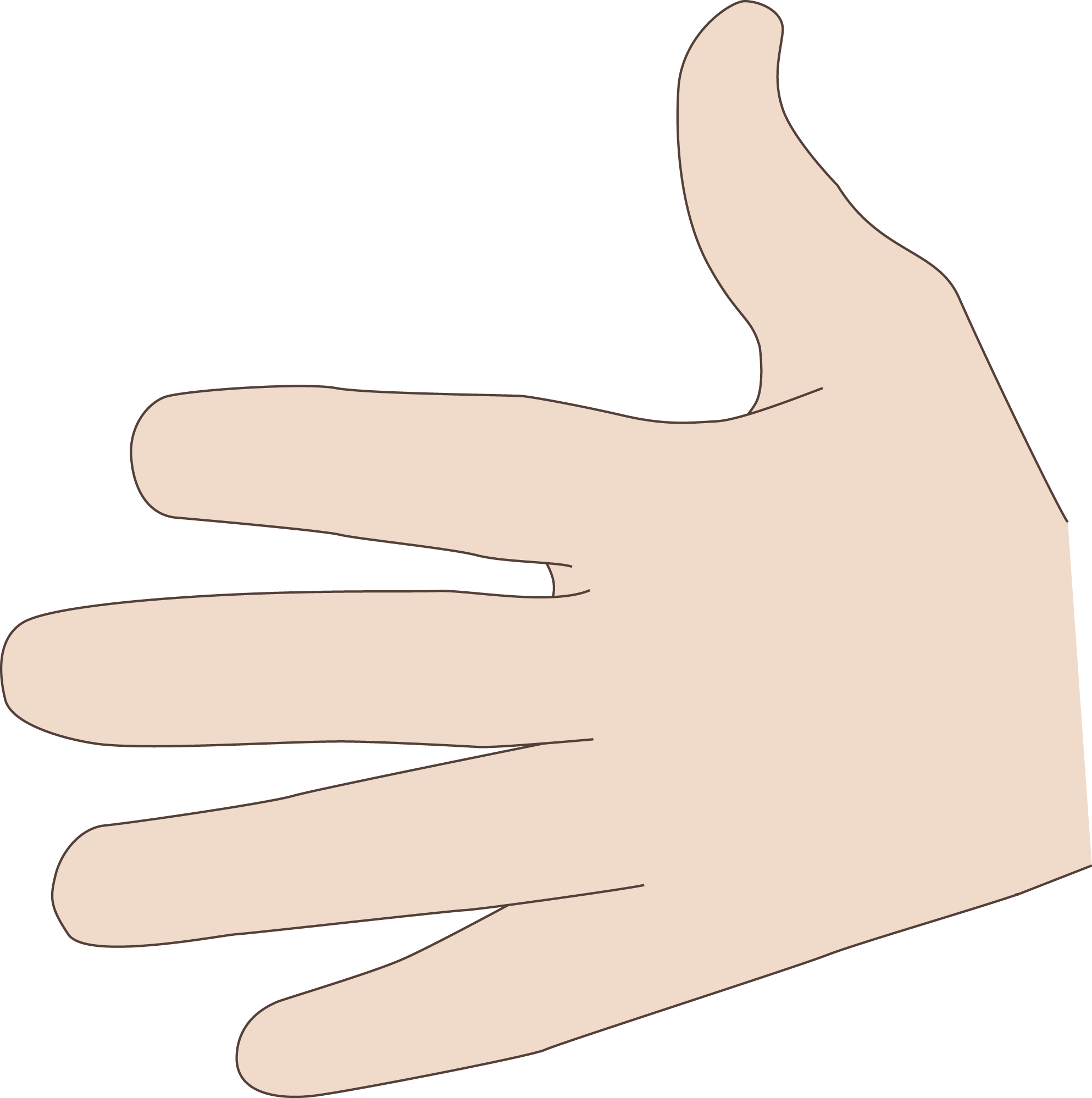 Coding manual all fingers. Finger clipart hand span