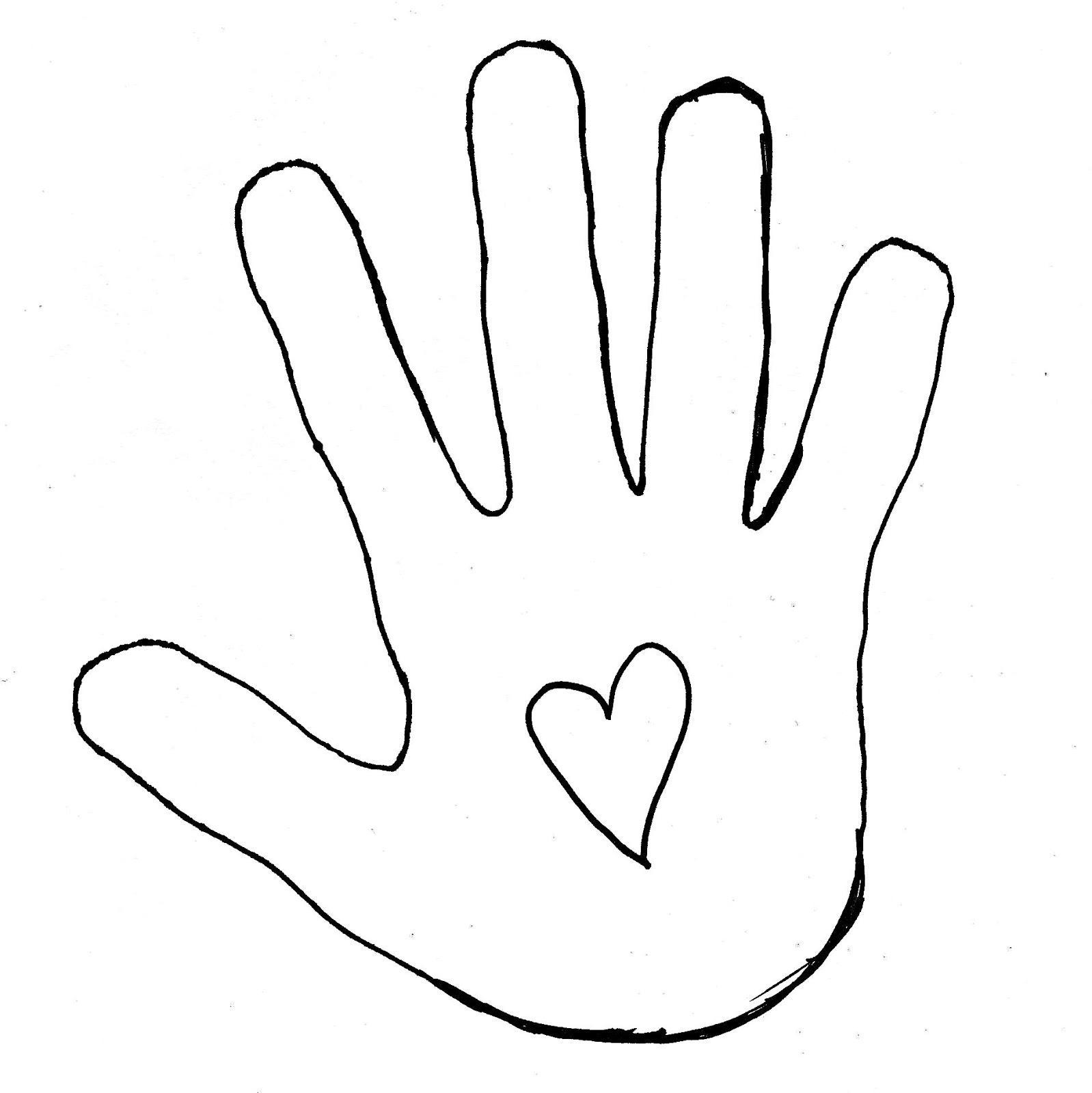 Hands clipart cut out. Best hand outline clipartion