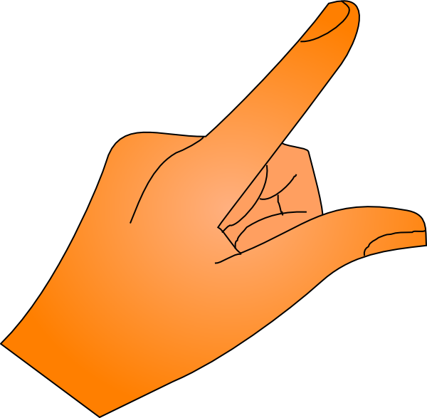 Thumb clipart orange. Pointed finger free download