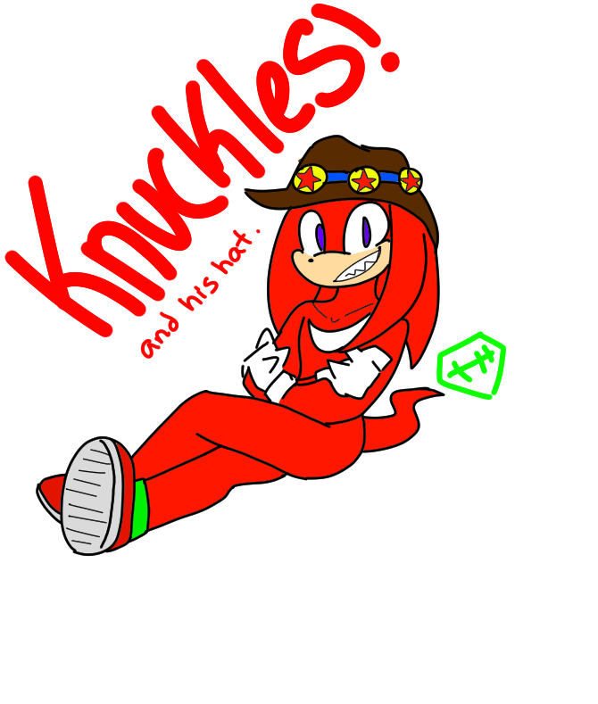 Knuckles and his hat. Finger clipart knuckle