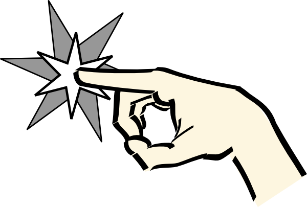 Finger clipart magic finger. Free cartoon hand pointing