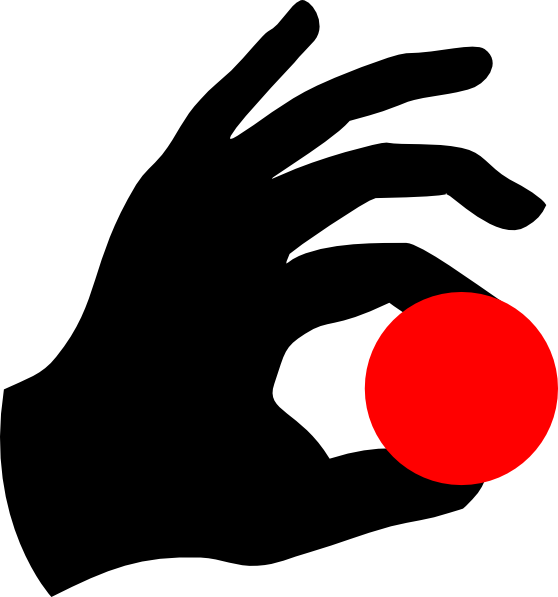Red ball clip art. Magic clipart hand holding wand