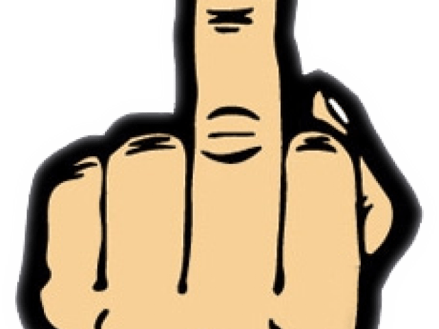 Finger clipart middle. Cartoon secondtofirst com silhouette