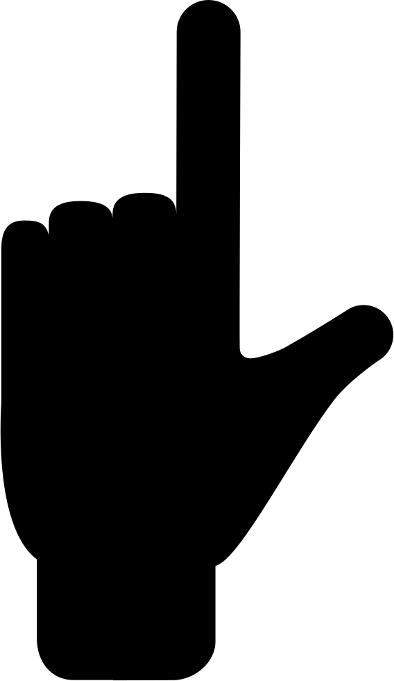 Fingers silhouette at getdrawings. Respect clipart gesture