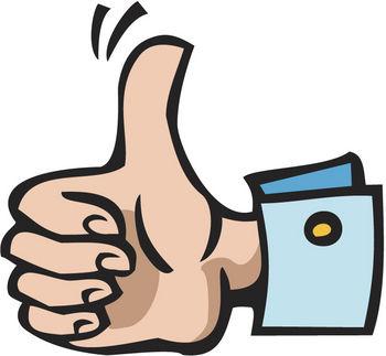 Top common hand symbols. Finger clipart muddle