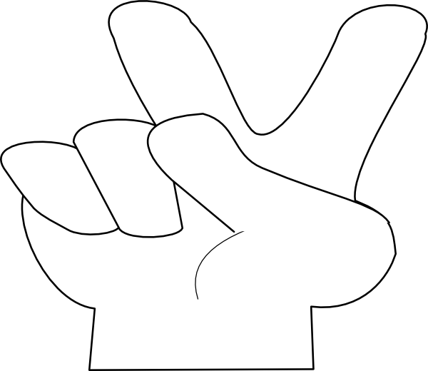 Out clip art at. Peace clipart victory hand