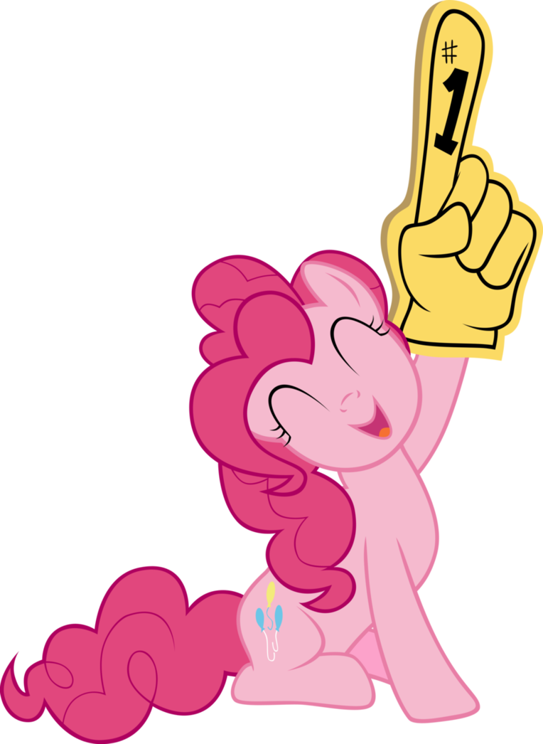 Skin clipart big hand. Pinkie pie giving a