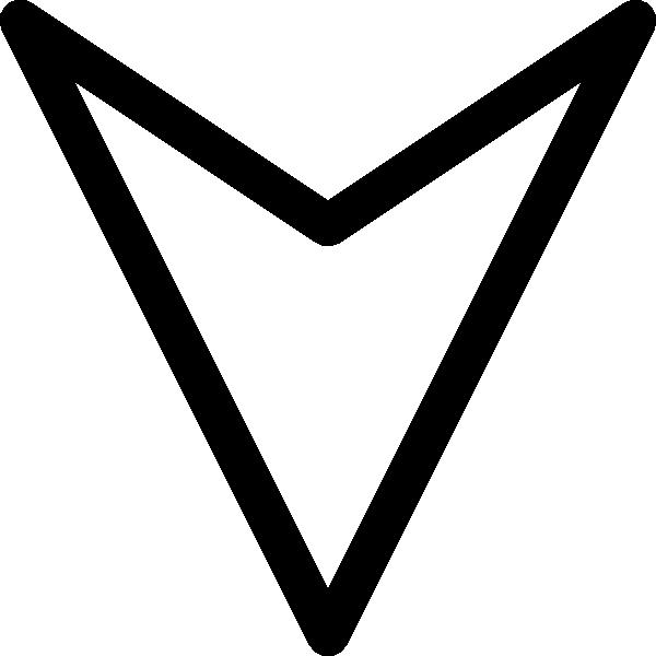 Outline down arrow clip. Finger clipart plain