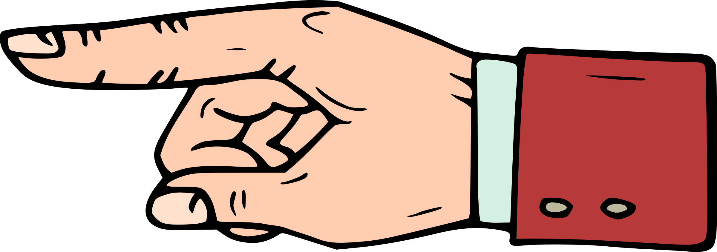 Pointing finger big image. Fingers clipart table