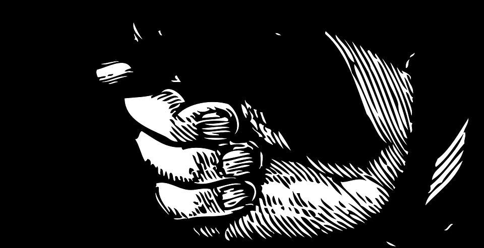 Finger clipart pointer. Pointing left