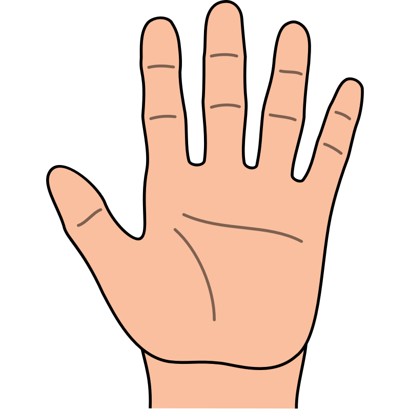 Fingers clipart sense touch.  collection of five