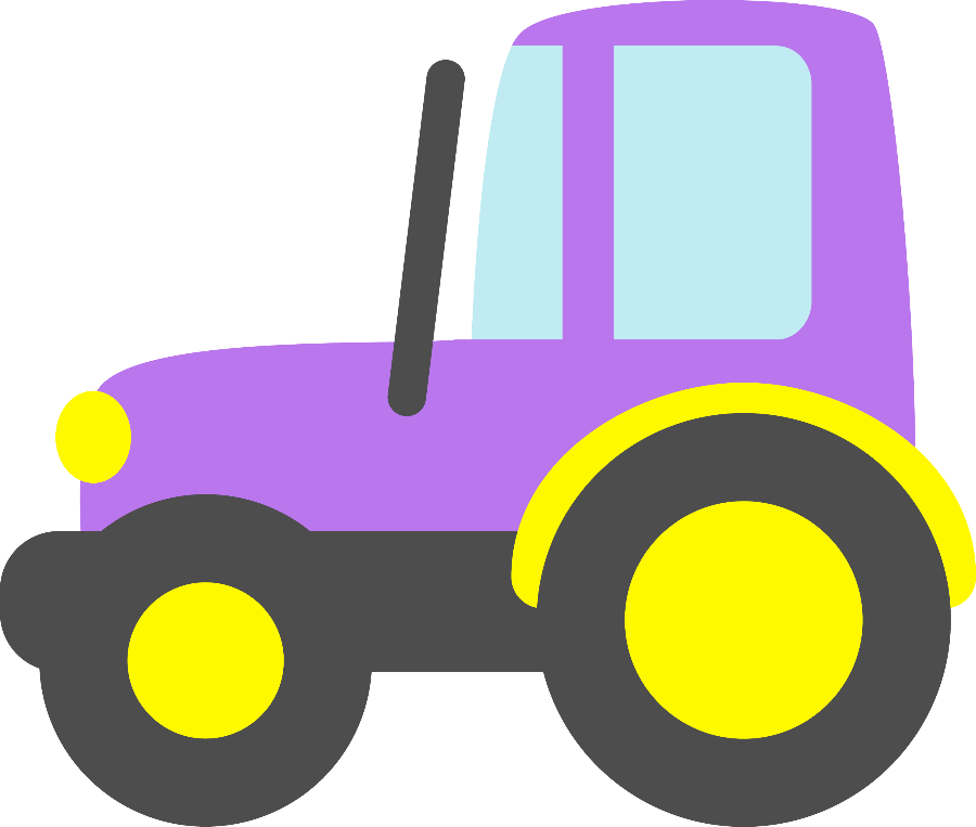 Purple clipart tractor. Meios de transporte minus