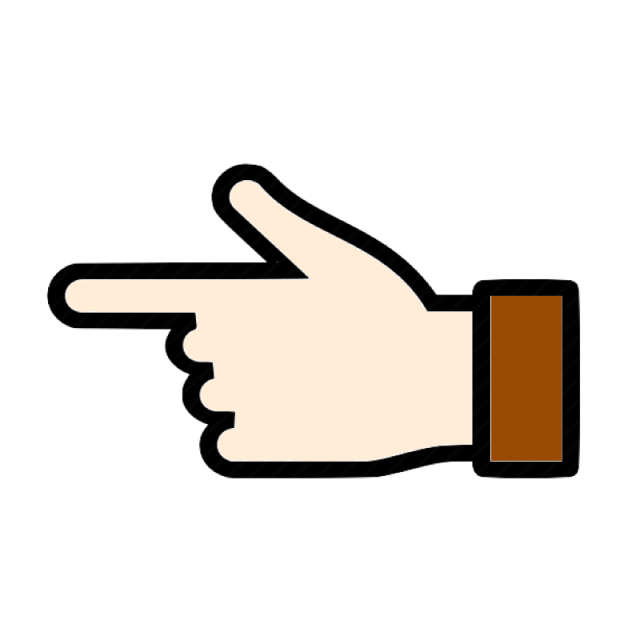 Previous icon left right. Fingers clipart finger click