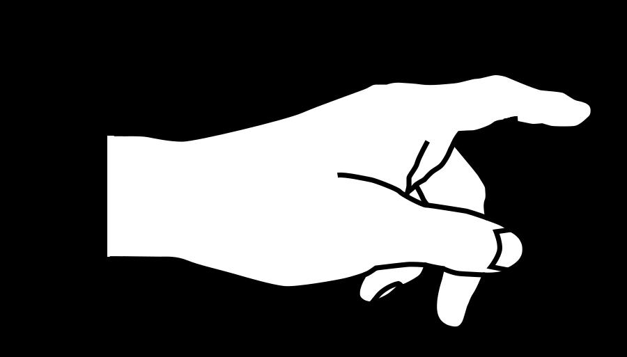 Pointing alternative design finger. Fingers clipart nice hand