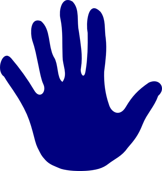 Blue clip art at. Fingers clipart left hand