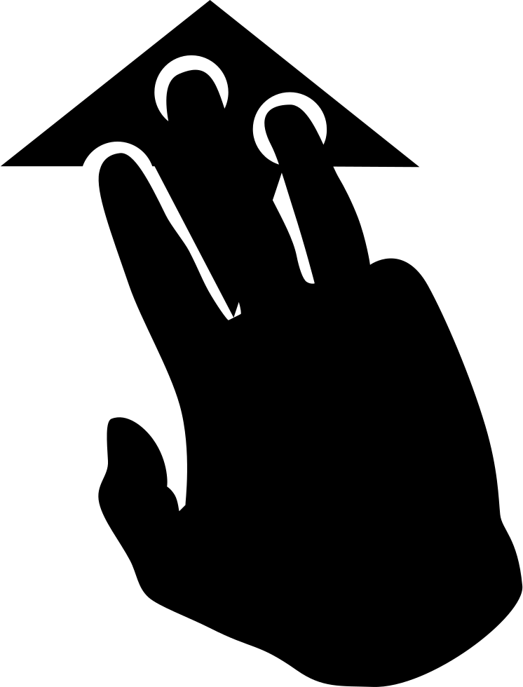 Three pointing svg png. Finger clipart sense touch