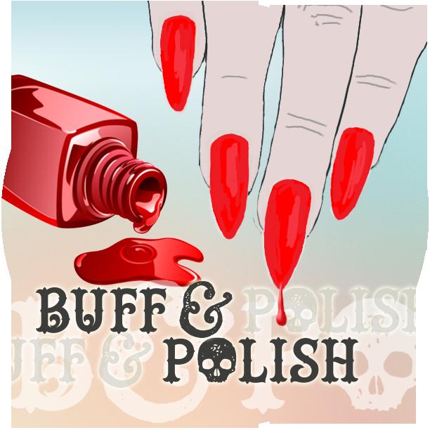 Home buff polish art. Nails clipart polished nail